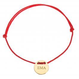 Červená šnúrka, 14kt zlato, Ema - detský, dámsky aj pánsky