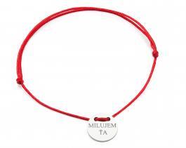 Červená šnúrka, striebro, Milujem ťa