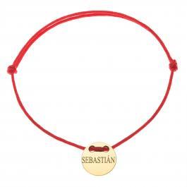 Červená šnúrka, 14kt zlato, Sebastián - detský, dámsky aj pánsky