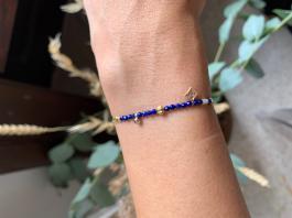 Náramok BELLE MAIS PAS QUE - ELEGANCE - Nacre & Lapis lazuli