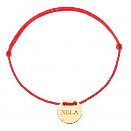 Červená šnúrka, 14kt zlato, Nela - detský, dámsky aj pánsky