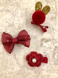 Štipčeky do vlasov - KIDS - Red Fashion