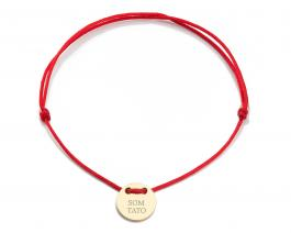 Červená šnúrka, medajlón 14 kt zlato, SOM TATO