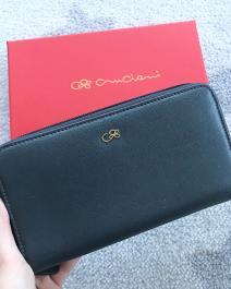 Veľká kožená peňaženka CRUCIANI ,Tmavošedá