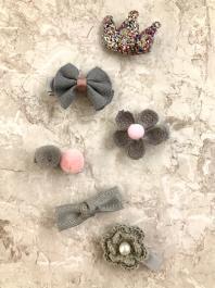 Štipčeky do vlasov - KIDS - Cute grey