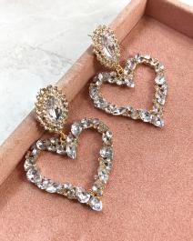 Náušnice Hearts - so Swarovski krištáľmi
