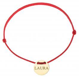 Červená šnúrka, 14kt zlato, Laura - detský, dámsky aj pánsky