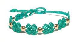 Náramok CRUCIANI Štvorlístok pre šťastie so zlatom smaragdovo zelený