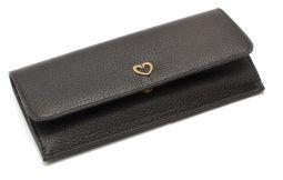 Peňaženka kožená CRUCIANI s darčekovým balením - Čierna