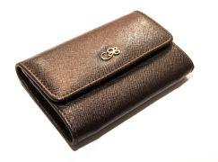Peňaženka na mince príp. na kreditné karty CRUCIANI s darčekovým balením - Tmavohnedá A