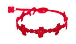 Náramok CRUCIANI Kríž červená