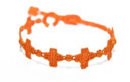Náramok CRUCIANI Kríž oranžová