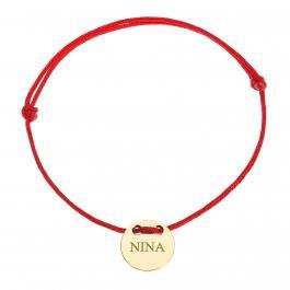 Červená šnúrka, 14kt zlato, Nina - detský, dámsky aj pánsky