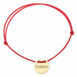 Červená šnúrka, 14kt zlato, Emma - detský, dámsky aj pánsky