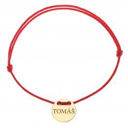 Červená šnúrka, 14kt zlato, Tomáš - detský, dámsky aj pánsky