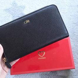 Veľká kožená peňaženka CRUCIANI , Tmavohnedá