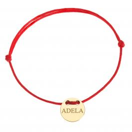 Červená šnúrka, 14kt zlato, Adela - detský, dámsky aj pánsky