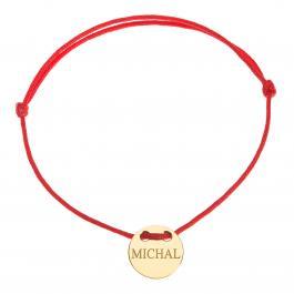 Červená šnúrka, 14kt zlato, Michal - detský, dámsky aj pánsky