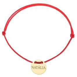 Červená šnúrka, 14kt zlato, Natália - detský, dámsky aj pánsky