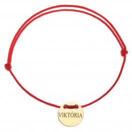 Červená šnúrka, 14kt zlato, Viktória - detský, dámsky aj pánsky