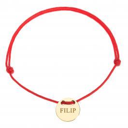 Červená šnúrka, 14kt zlato, Filip - detský, dámsky aj pánsky