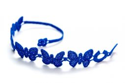 Náramok CRUCIANI Motýľ kráľovská modrá