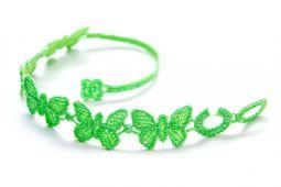 Náramok CRUCIANI Motýľ neónovo zelená