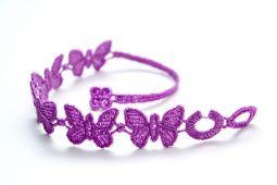 Náramok CRUCIANI Motýľ fialová