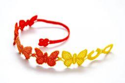 Náramok CRUCIANI Motýľ farebná oranžová