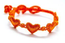 Náramok CRUCIANI detský Srdiečko oranžová