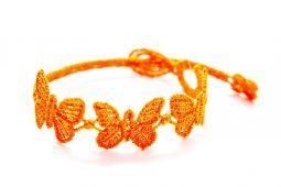 Náramok CRUCIANI detský Motýľ oranžová