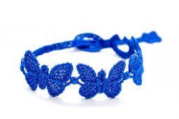 Náramok CRUCIANI detský Motýľ kráľovská modrá
