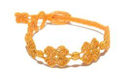 Náramok CRUCIANI detský Štvorlístok lesklá oranžová
