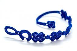 Náramok CRUCIANI Štvorlístok detský kráľovská modrá