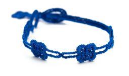 Náramok CRUCIANI detský Štvorlístok slim kráľovská modrá