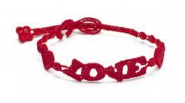 Náramok CRUCIANI Láska červená
