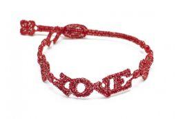 Náramok CRUCIANI Láska lesklá červená