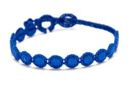 Náramok CRUCIANI Guličky kráľovská modrá