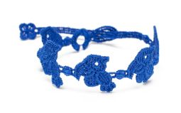 Náramok CRUCIANI Papagáj kráľovská modrá