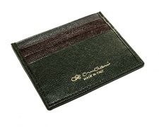 Peňaženka Cruciani na kreditné karty zelená s darčekovým balením - Variant 2