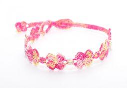 Náramok CRUCIANI Štvorlístok dúha 12. neónovo ciklamenová/ ružová/ svetlo fialová