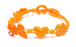 Náramok CRUCIANI Šťastie - láska - hojnosť oranžová