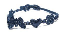 Náramok CRUCIANI Šťastie - láska - hojnosť oceľová modrá