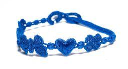 Náramok CRUCIANI Šťastie - láska - hojnosť kráľovská modrá
