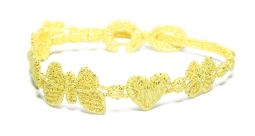 Náramok CRUCIANI Šťastie - láska - hojnosť lesklá svetlo zlatá
