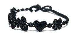 Náramok CRUCIANI Šťastie - láska - hojnosť čierna