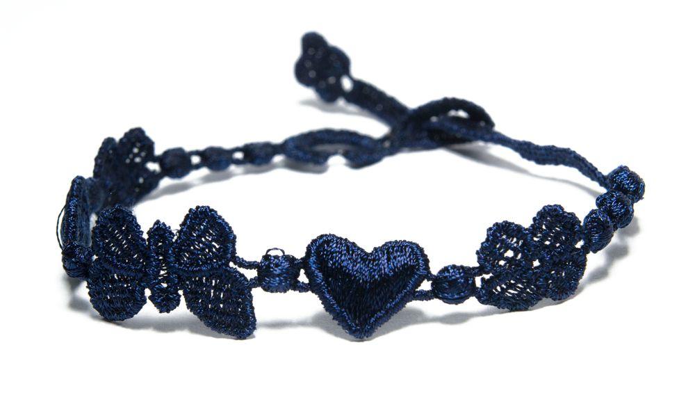 Náramok CRUCIANI Šťastie - láska - hojnosť tmavo modrá